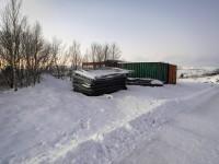 Byggstängsel i Kirkenes.