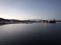 Hamnområde i Kirkenes.