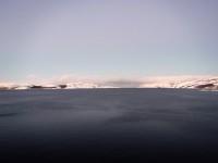 Ett snöklätt landskap vid Kirkenes.