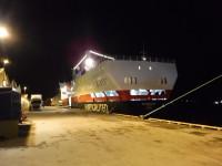 MS Vesterålen ligger förtöjd i Rørvik framför MS Richard With.