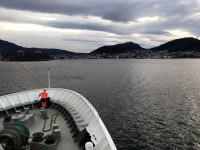 Vi närmar oss Bergen.