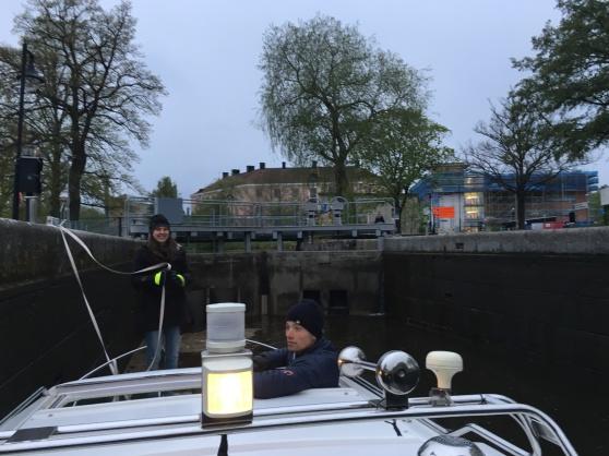 Kvällsslussning i Örebro.