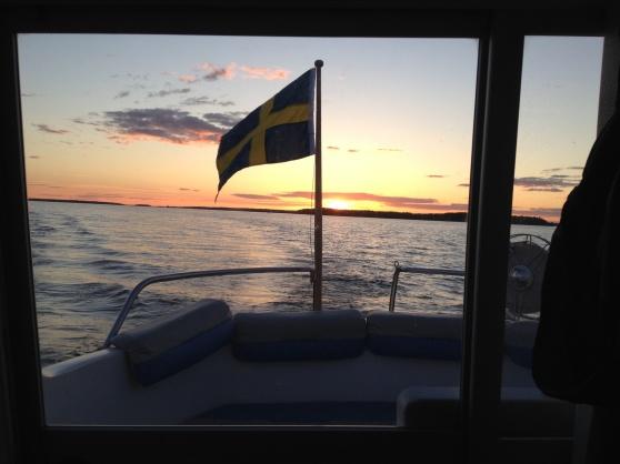 En vacker kväll på Mälaren, under min färd till Strängnäs.