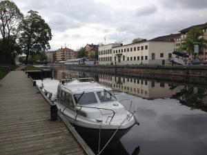 I Fyrisån i Uppsala.
