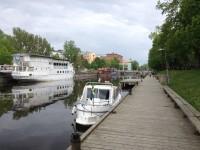 Min båt i Fyrisån i Uppsala.