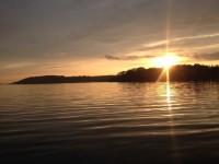 Solnedgång i den fina försommarkvällen.