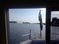 Morgon vid Stora Fjäderholmen.