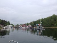 På väg in mot Strömma kanal.