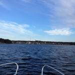 Jag närmar mig Sandhamn.