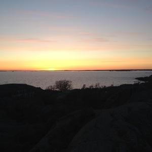 Solnedgång vid Landsort.
