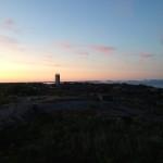 Kvällen sänker sig över Landsort.