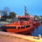 Lotsbåtar vid Landsort.