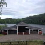 Dansbana vid Valö Café & Festplats.
