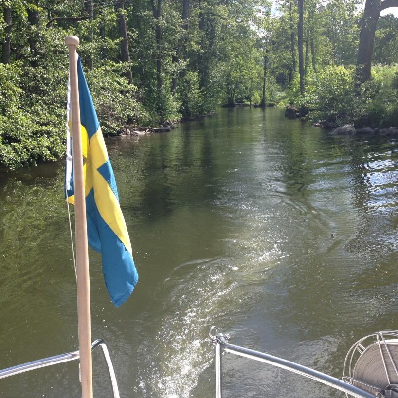 Lummiga Skedevid kanal.
