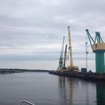 Industrihamn i Kristinehamn.