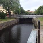 Slussen i Pråmkanalen i Karlstad, den 12:e juni 2019.