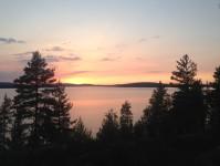 Kväll vid Glafsfjorden.
