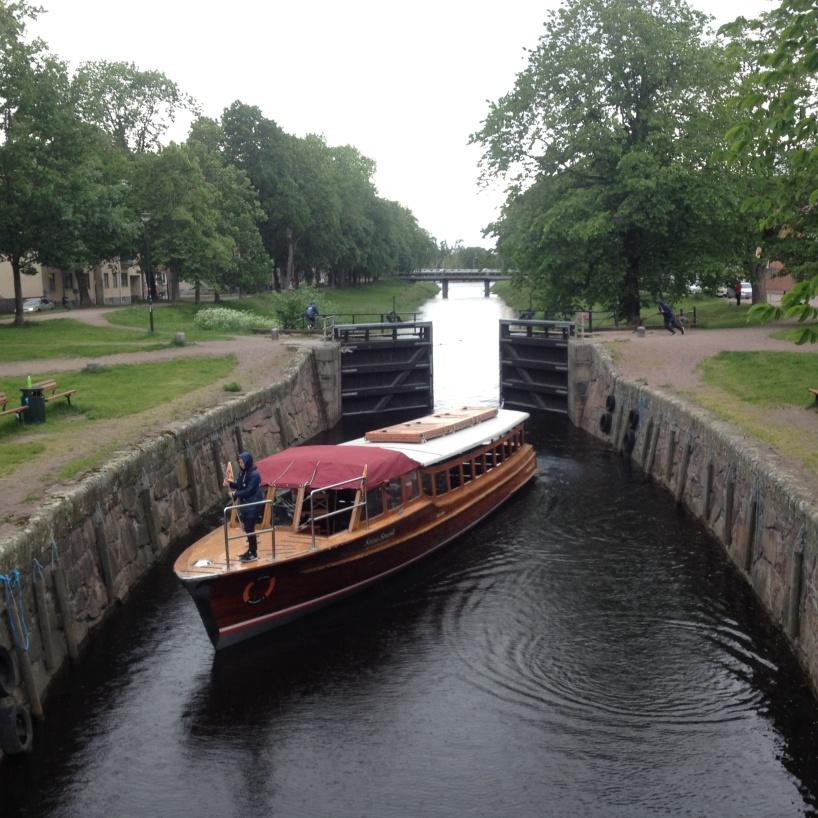 Slussen i Pråmkanalen i Karlstad.