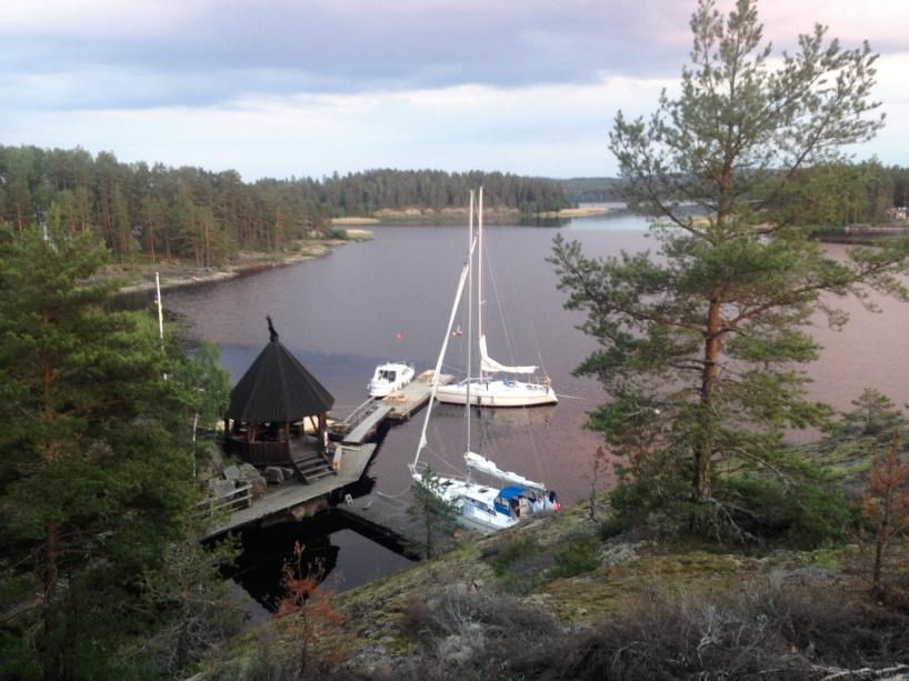 Båtar vid Skagern i Glafsfjorden.