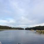 Både Europaväg E18 och länsväg 175 korsar Säffle kanal på denna bro.