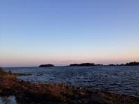 Kväll, den 17:e juni 2019, ute vid Vänern.