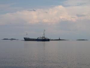 Bonita har gått på grund vid Stenskär vid Lurö.