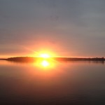 Solnedgång vid Vänern, den 18:e juni 2019.