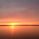 Solnedgång, strax utanför Mariestad.