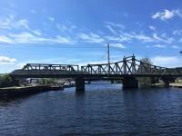 Järnvägsbron över Tista elv i Halden.