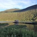 Bastu i sjön Bandak, vid Dalen.
