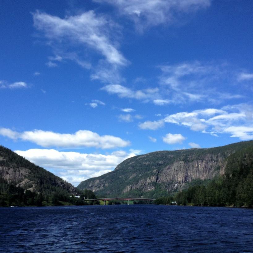 I de övre delarna av Telemarkskanalens vattensystem, den 2:a juli 2019.