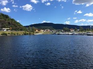 """""""Nesøya Marina"""" i Notodden, den 16:e juli 2019."""