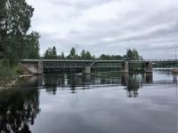 Landsvägsbron som korsar älven vid Gråda.