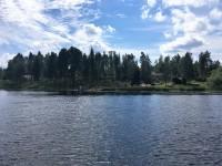 Platsen där småbåtshamnen vid Brunna tidigare har varit belägen.