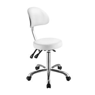 Arbetsstol COMFORT med ryggstöd vit, höjd 53-73 - Comfort