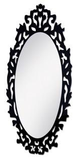 Arbetsspegel KING svart eller transparent med LED - Arbetsspegel King svart