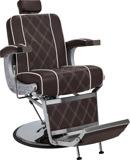 Barberarstol BORG brun eller svart med vit