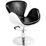 Frisörstol Amelie svart/vit