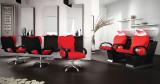 Paketpris Salong Clio röd för 3 Kunderna - Made in Europe