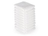 10 stck. Handdukar microfiber färgval vit, blå, brun, svart
