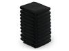10 stck. Handdukar microfiber färgval vit, blå, brun, svart - 10 stck. Handdukar microfiber svart
