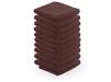 10 stck. Handdukar microfiber färgval vit, blå, brun, svart - 10 stck. Handdukar microfiber brun