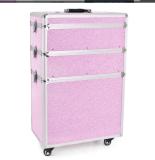 Mobilarbete Arbetsväska Pink Kristaller med hjul