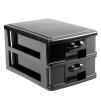 Arbetsväska Stylister svart med handtag och hjul