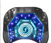 48W UV+LED Lampa Professional med timer och sensor i MINT/ VIT/ SVART/ SILVER/ROSA/VIOLET