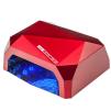 36W UV+LED Lampa Diamond med timer och sensorLED lampa SUN 18W med timer och sensor i VIT/SVART/RÖD/BLÅ/PINK/ROSA - 36W UV+LED Lampa Diamond RÖD