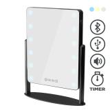 Bordsspegel med Belysning (3 färger), USB port, Bluetooth, digital clock