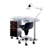 Panda Nagelbord inkl. Lampa med eller utan bordsutsug Made in Europe