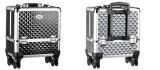 Rullväska Make Up svart eller silver med hjul & handtag