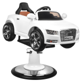 Barnklippstol Audi vit